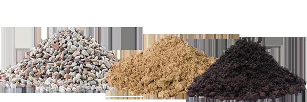 Щебень, грунт, песок